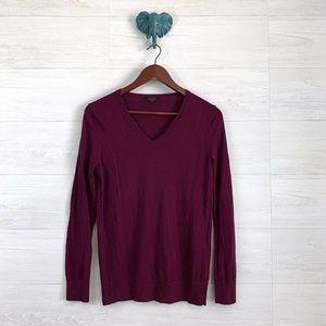 Talbots Pure 100% Merino Wool Eggplant Sweater